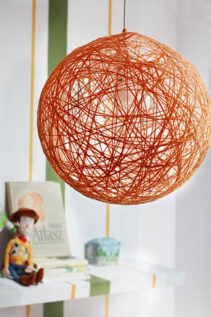 DIY lámpa fonalból