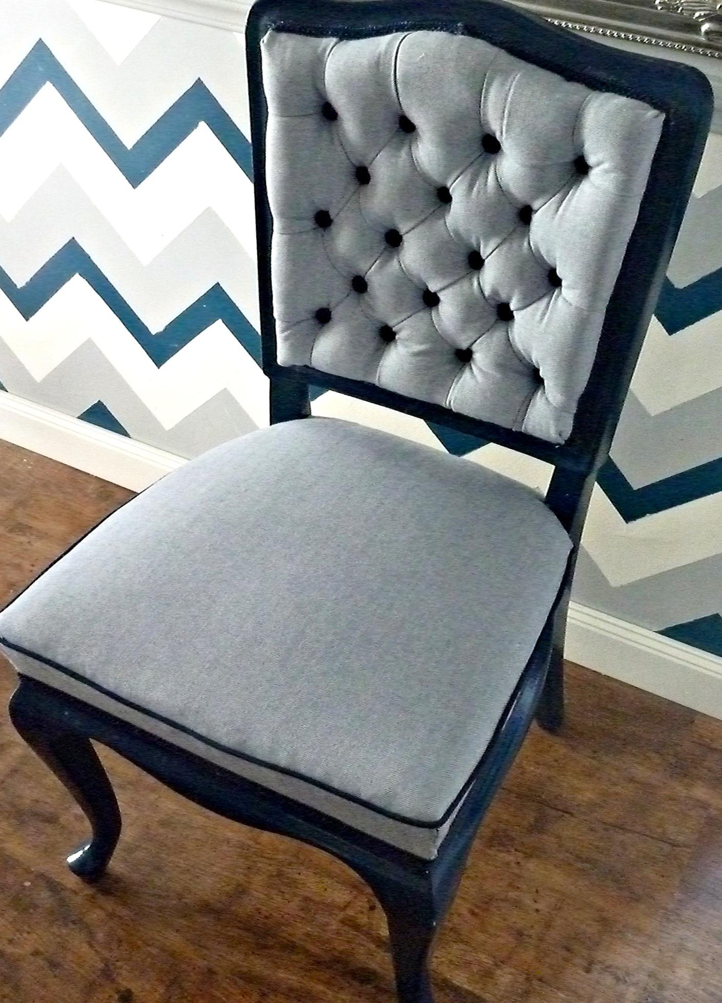 A szék új ruhája II. rész: a támla tűzése | Kicsi Ház