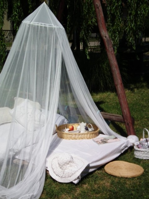 Paragi Mártonné Julcsi kertje nappal...
