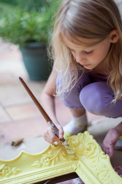 Blondel képkeret festése