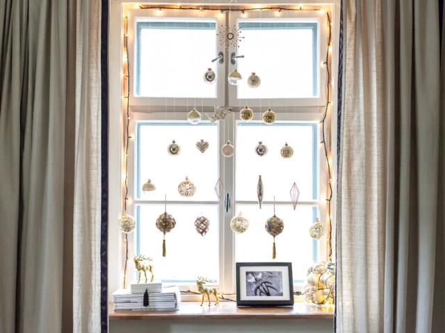 Karácsonyi ablakdekor