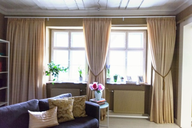 Függöny a nappaliban