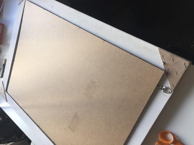 Tükrös DIY üzenőtábla / Kicsiház