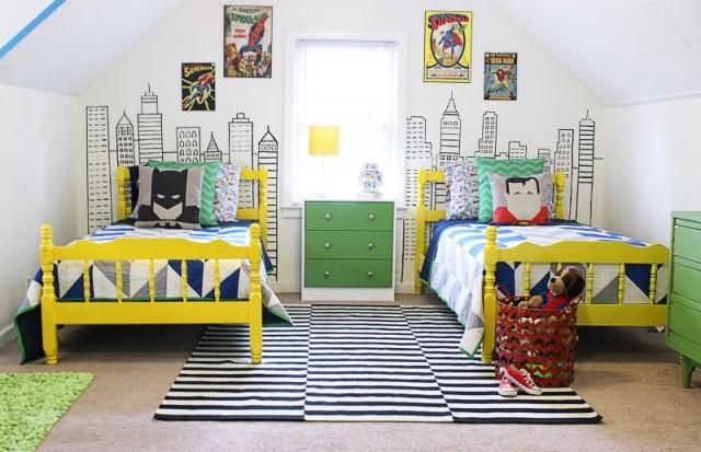 DIY szuperhősös fiúszoba