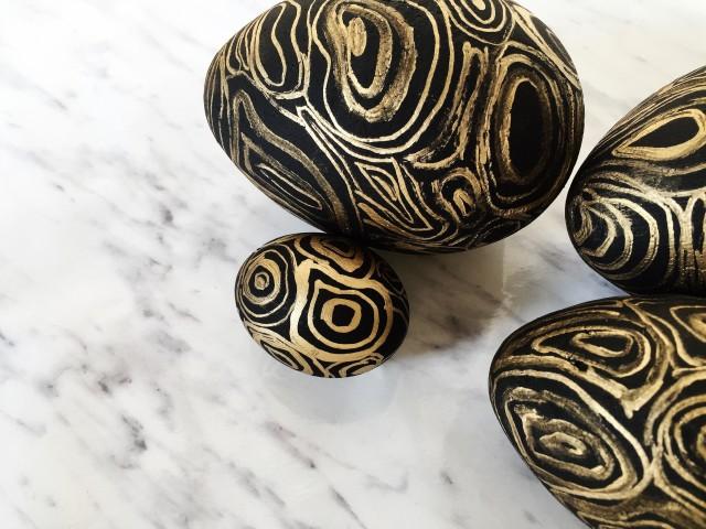 DIY hamis malachit húsvéti tojások / Kicsiház
