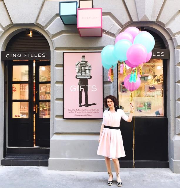 Cinq Filles Budapest üzlet felújítás