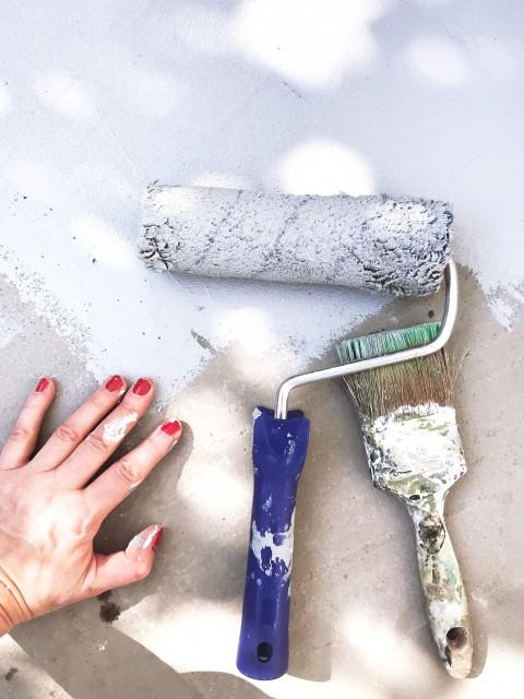 Teraszfelújítás Bondex SOS renovation festékkel / Kicsihá