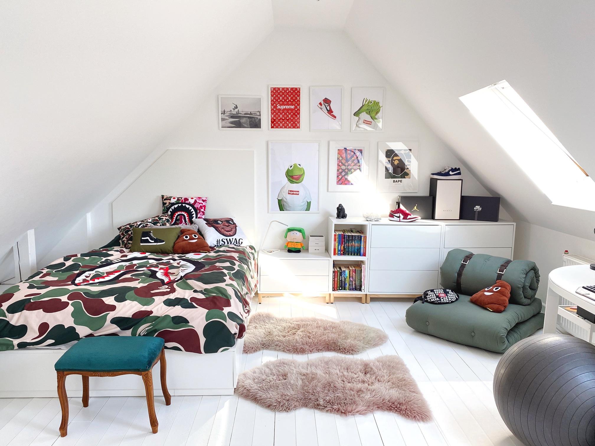 Tetőtéri kamasz fiúszoba, lakosztály / Akicsiház blog